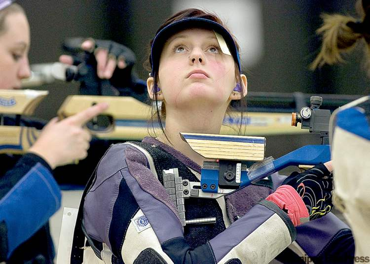Manitoba shooters Connor Deneka and Heather McCrea (below) won the province's first medal at the Canada Winter Games Monday in Halifax. The duo won bronze in women's team air rifle shooting.