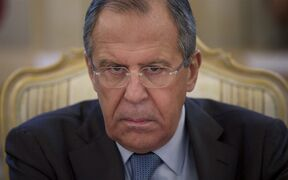 Russian Foreign Minister Sergey Lavrov listens to Saudi Foreign Minister Prince Saud al-Faisal during their meeting in Moscow, Russia, Friday, Nov. 21, 2014. (AP Photo/Ivan Sekretarev)