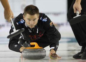 File photo of Winnipeg curler Mike McEwen, who has been named the top seed for next month's Manitoba men's curling championship in Brandon.