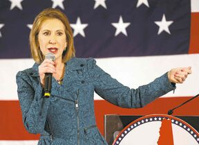 Jim Cole / The Associated PressBusinesswoman Carly Fiorina: �The world is a more dangerous and more tragic place when America is not leading.�