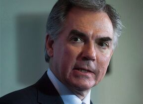Alberta Premier Jim Prentice is shown during a news conference in Vancouver, B.C., on November 3, 2014. THE CANADIAN PRESS/Darryl Dyck