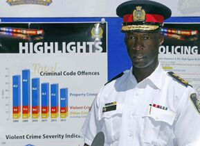 Police chief Devon Clunis announced overall crime has decreased by 14 per cent, as stated in an annual report released Tuesday.