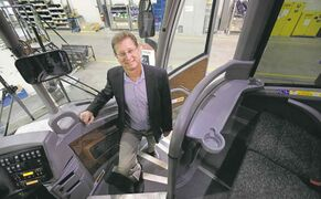 Ruth Bonneville / Winnipeg Free Press Motor Coach Industries CEO Rick Heller: �We have made significant improvement over the last four years.�