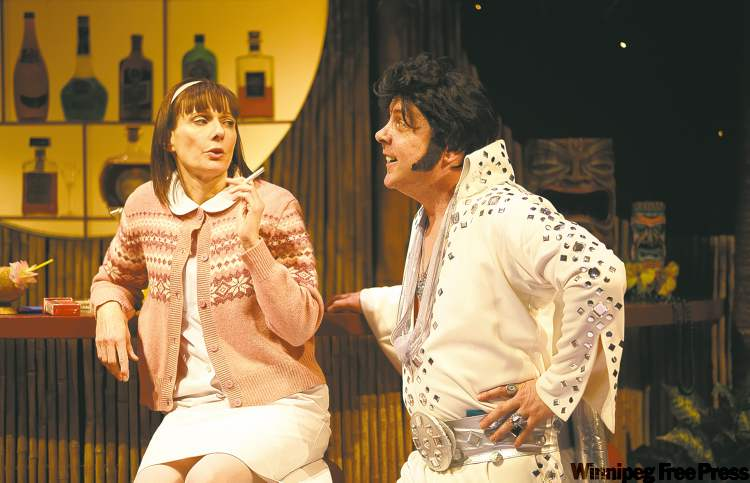 The King causes a commotion in local playwright's comedy/drama about family