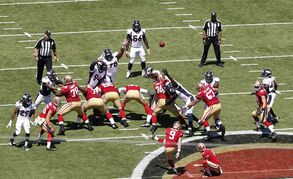 In this Aug. 17, 2014 photo, San Francisco 49ers kicker Phil Dawson (9) misses a field goal during the first half of an NFL preseason football game against the Denver Broncos in Santa Clara, Calif. Dawson, who missed two field goals in Sunday's 34-0 loss to Denver, planned to return to Levi's Stadium on Tuesday afternoon to get back to work figuring out a new field and its quirks. (AP Photo/Tony Avelar)