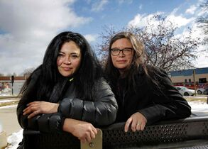 Jackie Traverse (left) and Lisa Forbes are working to increase aboriginal peoples participation in the election process.