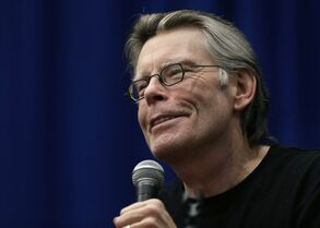 FILE - In this Dec. 7, 2012 file photo, novelist Stephen King speaks to creative writing students at the University of Massachusetts-Lowell in Lowell, Mass. King's time-travel novel about the Kennedy assassination is being adapted as a small-screen miniseries. Streaming service Hulu said Monday, Sept. 22, 2014, that the nine-hour series, titled