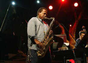 FILE - This July 23, 2013 file photo shows jazz saxophonist Wayne Shorter performing at the 5 Continents Jazz Festival, in Marseille , southern France. Shorter will perform at the world's largest jazz festival in Montreal this summer, joining Al Di Meola, Jamie Cullum and Dee Dee Bridgewater. (AP Photo/Claude Paris, File)
