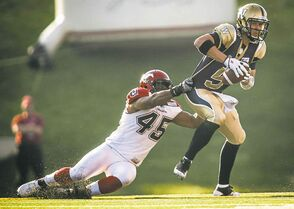 Bombers QB Drew Willy can look forward to more sacks in Cowtown.