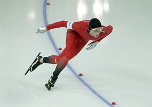 Norway's Havard Bokko competes in the men's 1,500-meter speedskating race at the Adler Arena Skating Center during the 2014 Winter Olympics in Sochi, Russia, Saturday, Feb. 15, 2014. (AP Photo/Matt Dunham)