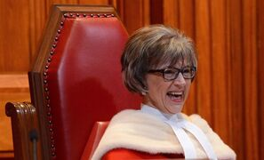 Supreme Court Judge Beverley McLachlin takes part in the welcoming ceremony for Justice Richard Wagner at the Supreme Court of Canada in Ottawa on Monday, December 3, 2012. THE CANADIAN PRESS/Sean Kilpatrick