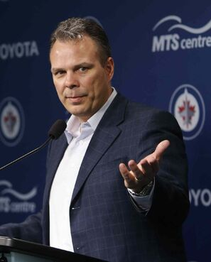 'There's no better sales pitch than what we just went through with those two playoff home games,' says Jets GM Kevin Cheveldayoff.