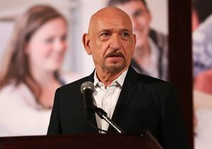 Sir Ben Kingsley speaks at the Facing History and Ourselves 20th anniversary Los Angeles benefit dinner on Monday, Jan. 27, 2014 in Beverly Hills, Calif. At age 70, Kingsley still keeps a schedule that looks like a highway in gridlock. THE CANADIAN PRESS/Matt Sayles/Invision/AP
