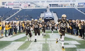 The Manitoba Bisons battled the Regina Rams Friday night at Investors Group Field.
