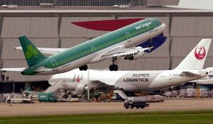 An aircraft of Ireland's national airline Aer Lingus takes off from London's Heathrow Airport, Oct. 10, 2001. THE CANADIAN PRESS/AP, Adam Butler