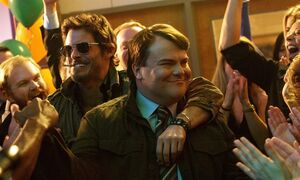 This image released by IFC Films shows James Marsden, left, and Jack Black in a scene from