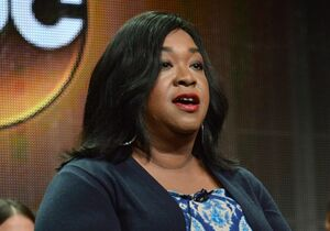 FILE - In this July 15, 2014 photo, showrunner Shonda Rhimes speaks during the