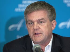 New Brunswick Premier David Alward fields a question at a news conference as the four Atlantic premiers attend their annual meeting in Brudenell, P.E. I. on Wednesday, June 6, 2012. Alward is musing about the possibility of holding a referendum on increasing its sales tax before the next election, an idea that analysts say would come with huge political risks.THE CANADIAN PRESS/Andrew Vaughan