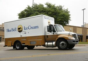 A Blue Bell Ice Cream truck stops at Walgreens in Dallas on Thursday morning, April 23, 2015. Texas-based Blue Bell Creameries recalled all its products this week after listeria was found in a variety of the company's frozen treats. New technologies account for one way that the government is tracking a life-threatening outbreak of listeria linked to Blue Bell ice cream products. Listeria is a heartyy bacteria found in soil and water that can be tracked into a plant or carried by animals.(David Woo/The Dallas Morning News via AP) MANDATORY CREDIT; MAGS OUT; TV OUT; INTERNET USE BY AP MEMBERS ONLY; NO SALES