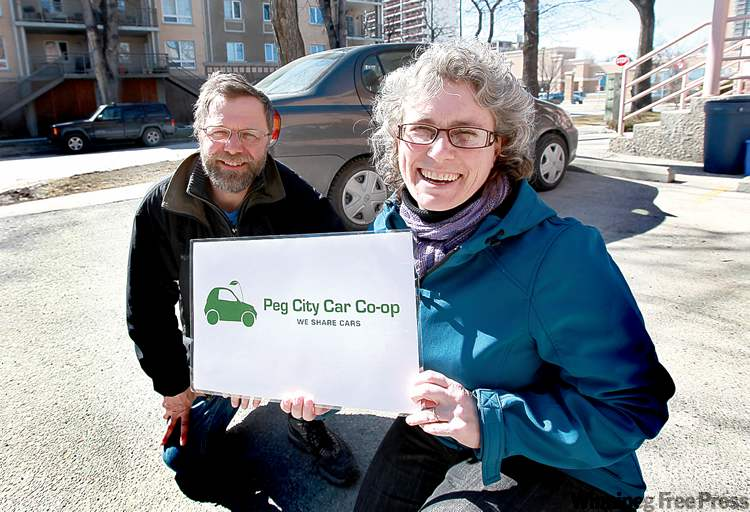 Ruth.bonneville@FreePress.mb.caBeth McKechnie and Bruce Berry of Peg City Car Co-op, which will begin acquiring vehicles in the next few weeks.