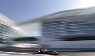Red Bull driver Daniel Ricciardo of Australia steers his car during the third free practice at the Yas Marina racetrack in Abu Dhabi, United Arab Emirates, Saturday, Nov. 22, 2014. The Emirates Formula One Grand Prix will take place on Sunday. (AP Photo/Hassan Ammar)