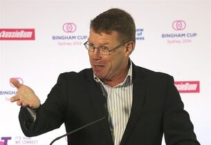 Former Wallabies captain Nick Farr-Jones speaks during a press conference about The Australian Rugby Union's