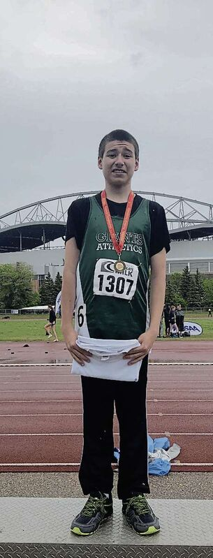 Elmwood High School's Mason Schwartz won gold in the inaugural 400-metre para-intellectual dash at the provincial high school track championships.