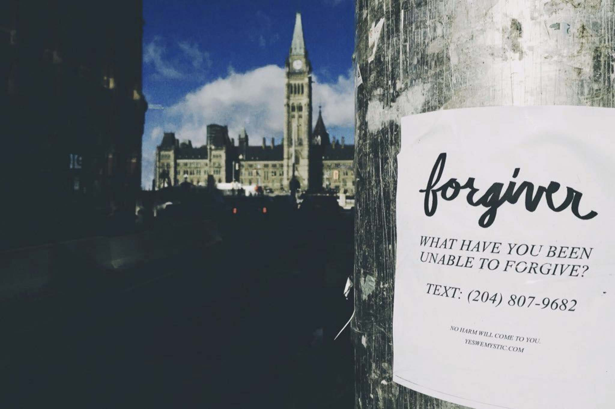 Supplied</p><p>One of Yes We Mystic's posters near Parliament Hill in Ottawa.</p><p>