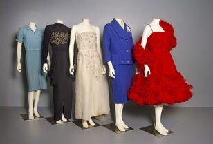 Outfits from a new exhibit at the Museum of Vancouver is shown in this undated handout photo. The Museum of Vancouver is planning to spotlight fashion trends of the 1940s and '50s in an exhibition opening next month. THE CANADIAN PRESS/HO - Museum of Vancouver
