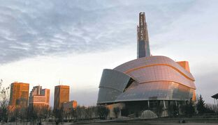 The Canadian Museum for Human Rights at sun rise. WAYNE GLOWACKI / WINNIPEG FREE PRESS) Nov.5 2014