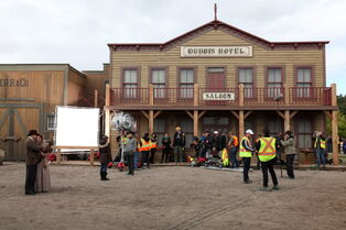 On location of the set for The Pinkertons, a