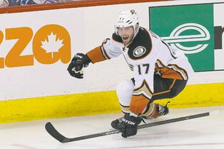 Anaheim centre Ryan Kesler tore the Jets up with a pair of third-period goals as the Ducks completed a playoff sweep Wednesday night.