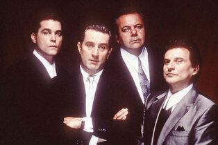 Deutsche Kinemathek / Martin Scorsese Collection, New York Goodfellas, directed by Martin Scorsese, has inspired many filmmakers since its release in 1990. Pictured are Ray Liotta (from left), Robert De Niro, Paul Sorvino, Scorsese and Joe Pesci.