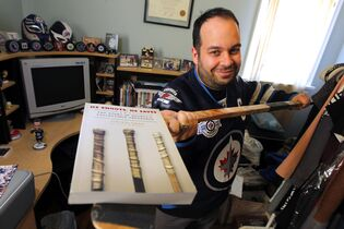Jon Waldman's book He Shoots, He Saves examines the world of hockey collectibles from fans and NHLers' points of view.