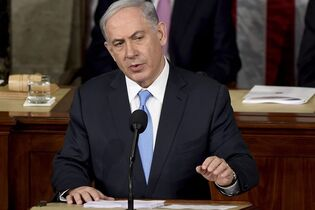 Israeli Prime Minister Benjamin Netanyahu speaks before a joint meeting of Congress on Capitol Hill in Washington, Tuesday, March 3, 2015. In a speech that stirred political intrigue in two countries, Netanyahu told Congress that negotiations underway between Iran and the U.S. would