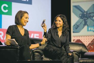 Deborah Cannon / Austin American-Statesman / The Associated Press filesJulia Louis-Dreyfus uses the Meerkat app on her phone as she is interviewed by Anne Fulenwider, editor-in-chief  of Marie Claire, during South by Southwest at the Austin Convention Center earlier this month.