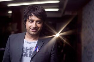 Radio presenter Jian Ghomeshi arrives at CBC's Toronto studios for the recording of the 'Canada for Haiti' benefit show on Friday January 22, 2010. ``Q'' radio host Jian Ghomeshi is taking an