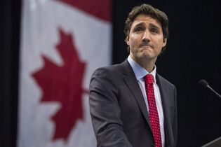 Liberal Leader Justin Trudeau delivers a speech during an event in Mississauga, Ont., on February 15 2015. Justin Trudeau says Stephen Harper is pandering to fears about Muslims with his insistence that no one should be allowed to wear a veil while taking the oath of Canadian citizenship. THE CANADIAN PRESS/Chris Young