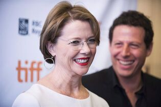 Actress Annette Bening and Director Arie Posin arrive at the premiere of