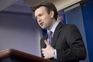 White House press secretary Josh Earnest speaks during his daily news briefing at the White House in Washington, Wednesday, March 4, 2015, where he answered questions including on Iran, and about former Secretary of State Hillary Clinton's use of email. (AP Photo/Jacquelyn Martin)
