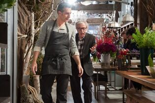 This image released by Millennium Entertainment shows John Turturro, left, and Woody Allen in a scene from