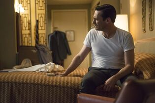 In this image released by AMC, Jon Hamm portrays Don Draper in a scene from