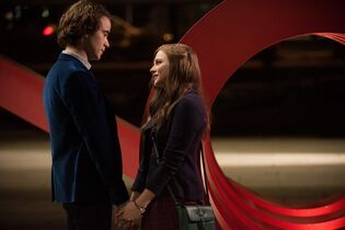 This image released by Warner Bros. Pictures shows Jamie Blackley, left, and Chloe Grace Moretz in a scene from