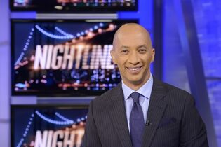 In this image released by ABC, ABC News' chief national correspondent Byron Pitts appears on the set of