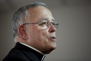 Philadelphia Archbishop Charles Chaput speaks during a news conference Monday, Nov. 24, 2014, in Philadelphia. Roman Catholic leaders in Philadelphia are predicting as many as 2 million people could turn out to see Pope Francis during his first U.S. visit as pontiff in Sept. 2015. (AP Photo/Matt Rourke)