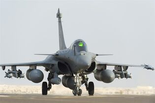 A Rafale jet fighter lands in Al Dhafra base, UAE, after a strike in Iraq Friday on Sept.19, 2014. THE CANADIAN PRESS/AP, HO - Jean-Luc Brunet, ECPAD