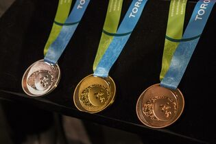 Toronto 2015 Pan Am Games silver, gold and bronze medals are displayed as the organizing committee unveils the medals that will be awarded at the games during an announcement in Toronto on Tuesday, March 3, 2015. THE CANADIAN PRESS/Chris Young
