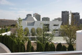 The Aga Khan museum is seen from the Ismaili Centre Toronto on Tuesday, Sept. 9, 2014. THE CANADIAN PRESS/Colin Perkel