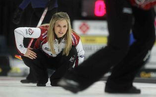 Jennifer Jones and her team won the 1 vs. 1 Page playoff game.