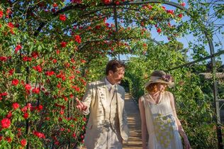 This photo released by courtesy of Sony Pictures Classics shows, Colin Firth, left, as Stanley and Emma Stone as Sophie, in a scene from the film,
